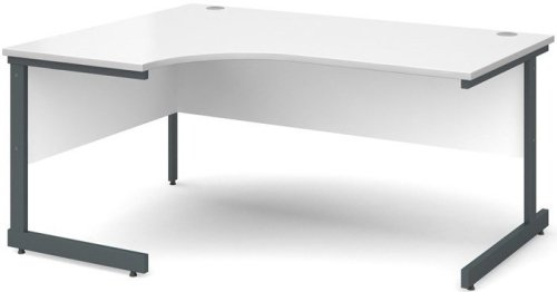 Dams Corner Desk with Single Cantilever Legs - (w) 1600mm x (d) 1200mm