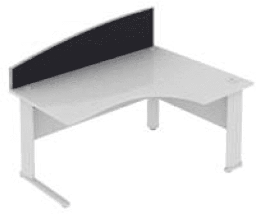 Elite Desk Mounted Curved System Fabric Screen - Width 1173mm