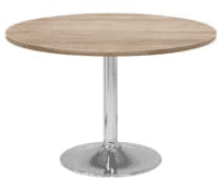 Elite Circular Chrome Trumpet Base Meeting Table MFC Finish - 600 x 725mm