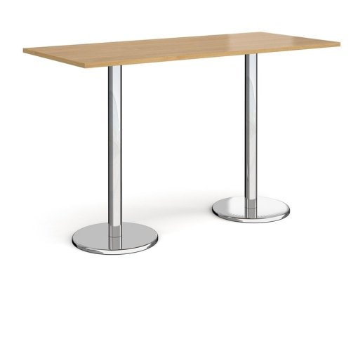 Dams Pisa Rectangular Poseur Table With Round Base 1800 x 800mm