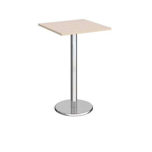 Dams Pisa Square Poseur Table With Round Base 700mm