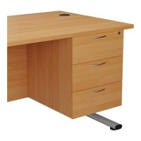 TC Office Essentials Fixed Pedestal 3 Drawers