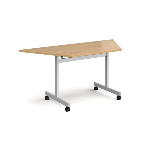 Dams Trapezoidal Fliptop Meeting Table - 1600 x 694mm