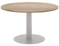 Elite Circular Meeting Table MFC Finish - 1000 x 725mm