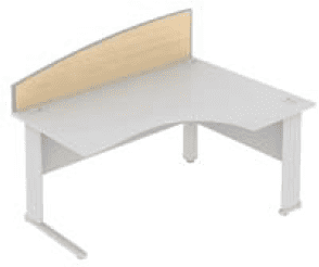 Elite Desk Mounted Curved System Screen MFC - Width 1173mm