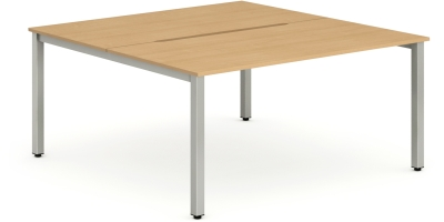Gentoo Bench Desk, Pod of Two, Back to Back - (w) 1200mm x (d) 1600mm
