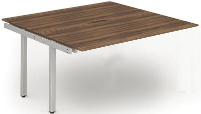 Gentoo Bench Extension Desk, Pod of Two, Back to Back - (w) 1400mm x (d) 1600mm