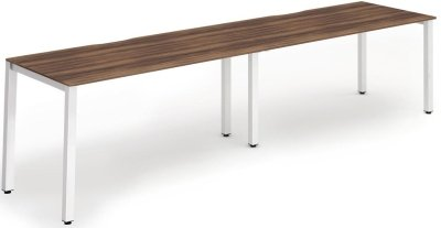 Gentoo Bench Desk, Pod of 2, Single Row - (w) 2400mm x (d) 800mm