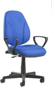 Bilbao Lumbar Operators Chair with Fixed Arms