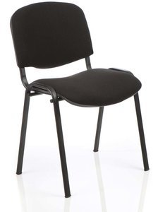 Gentoo ISO Black Frame Fabric Chair without Arms (Min Qty 4)