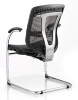 Gentoo Mirage Black Mesh Cantilever Chair