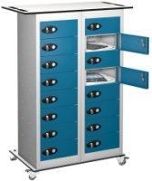 Probe TabBox 16 Compartment Trolley With Standard Plug - 1050 x 800 x 370mm