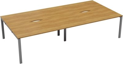 TC Office Bench Desk, Pod of Four, Full Depth - (w) 2800 x (d) 1600mm