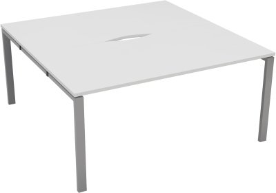 2 Person Bench Desk Full Depth Starter Unit - 1600 x 800mm