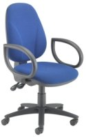 TC Office Concept Deluxe Operator Chair With Fixed Arms - Chrome Base