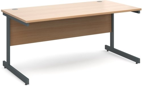 Dams Contract 25 Rectangular Desk with Single Cantilever Leg - (w) 1600mm x (d) 800mm