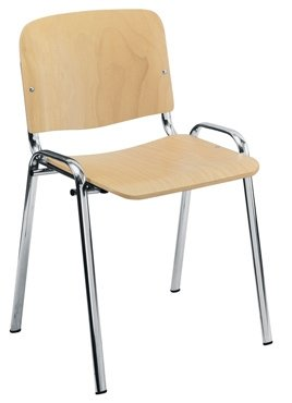 Club Wood Chair With Moulded Arms