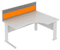Elite System Desk Mounted Acrylic Screen With Management Rail