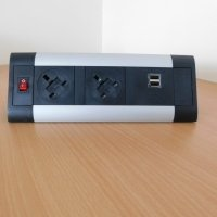 ABL DTK Desktop Power Module - 2 x 5A UK Sockets & Smart Charge