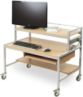 Computer Trolley - Two Tier Fixed Height