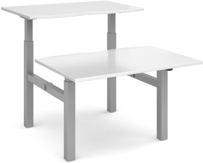 Dams Height Adjustable Back to Back Desk - (w) 1600mm x (d) 1650mm