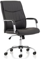 Gentoo Carter Black Luxury Faux Leather Chair With Arms