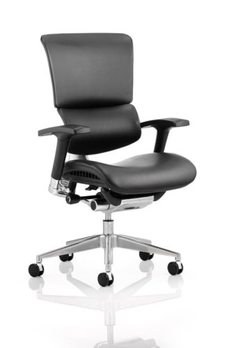 Gentoo Ergo Black Frame Leather Chair Without Headrest