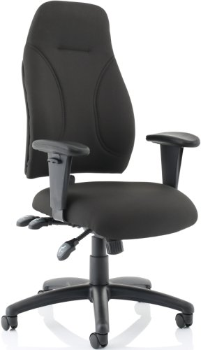Gentoo Esme Black Posture Chair With Height Adjustable Arms