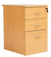 Fraction 3 Drawer Desk High Pedestals 435 x 800mm