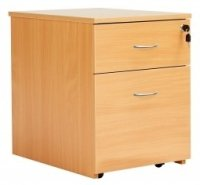 Fraction 2 Drawer Low Mobile Pedestals