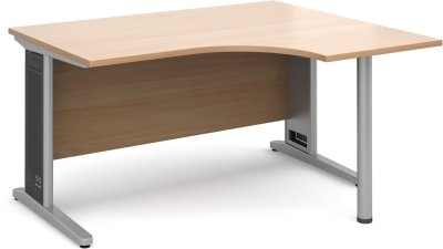 Dams Cable Managed Cantilever Leg - Corner Desk 1400 x 1200mm