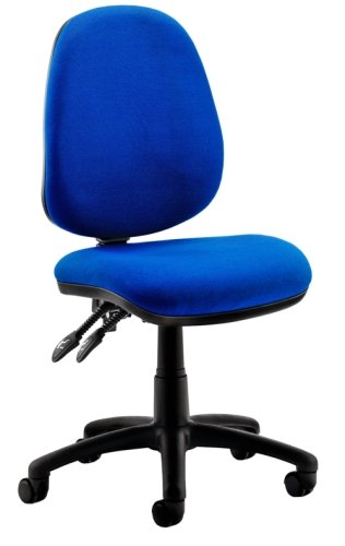 Gentoo Luna 2 Lever Blue Fabric Operator Chair without Arms