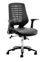 Gentoo Relay Leather Seat Operator Chair
