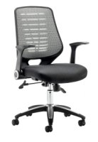 Gentoo Relay Operator Chair Airmesh Seat Silver Back