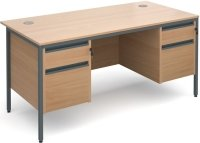 Dams Maestro H Frame - 2 Shallow & 2 Filing Drawers