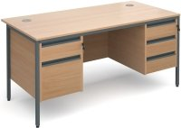Dams Maestro H Frame - 4 Shallow & 1 Filing Drawer
