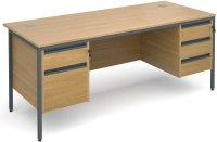 Dams Maestro H Frame Rectangular Desk with 4 Shallow & 1 Filing Drawer - (w) 1778mm x (d) 746mm