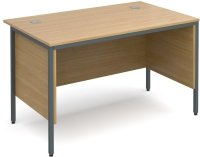 Dams Maestro H-Frame Rectangular Desk with Back & Side Modesty Panels - (w) 1228mm x (d) 746mm