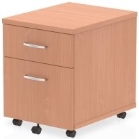 Gentoo Bulk Mobile Pedestal - 1 Shallow & 1 Filing Drawer