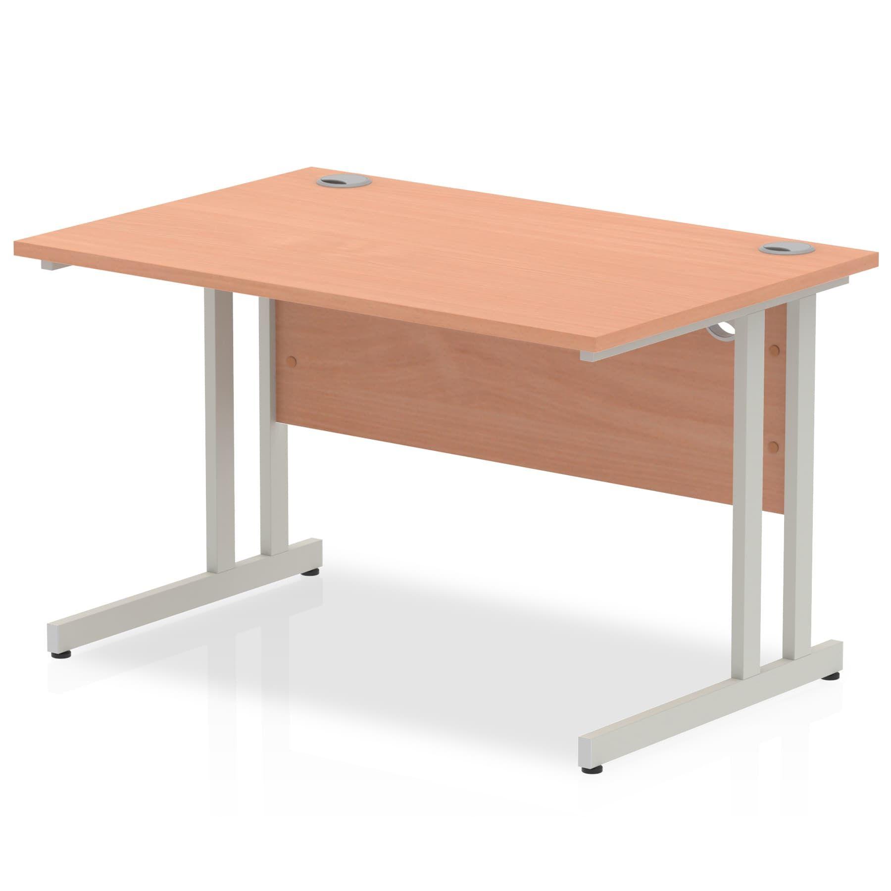 Cantilever Straight Office Computer Desk Beech NEW 1400mm x 800mm x 730mm