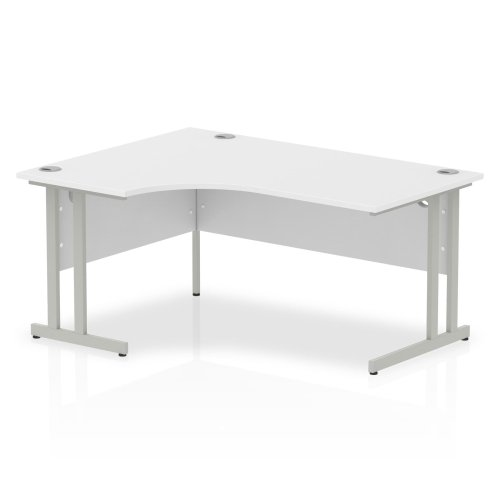 Gentoo Bulk Corner Desk with Twin Cantilever Legs - (w) 1600mm x (d) 1200mm