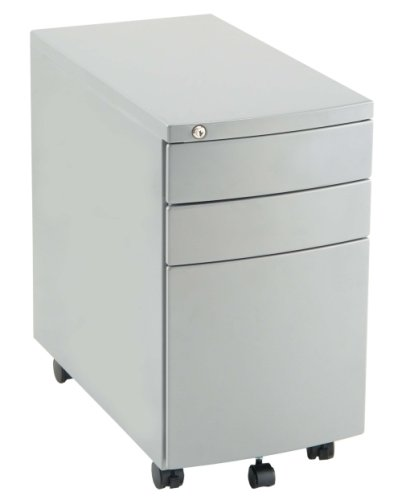 Gentoo Bulk Slim Steel Mobile Pedestal with 3 Drawers - (w) 310mm x (d) 565mm