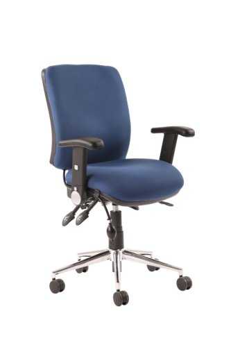 Gentoo Chiro Medium Back Operator Chair with Height Adjustable and Folding Arms