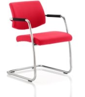 Gentoo Havanna Bespoke Fabric Cantilever Chair with Arms