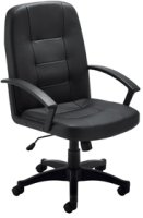Lite Leather Look High Back Executive Chair Black