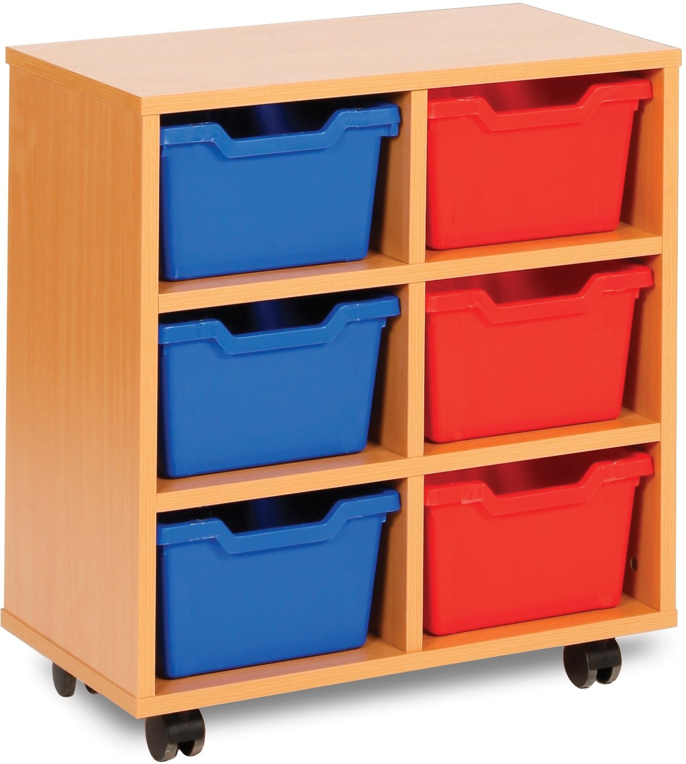 Cubby Tray Storage 2 Bay 6 Tray Units