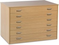 Art Storage 6 Drawer Plan Chest