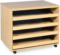 Monarch 4 Sliding Drawer A1 Paper Storage Unit