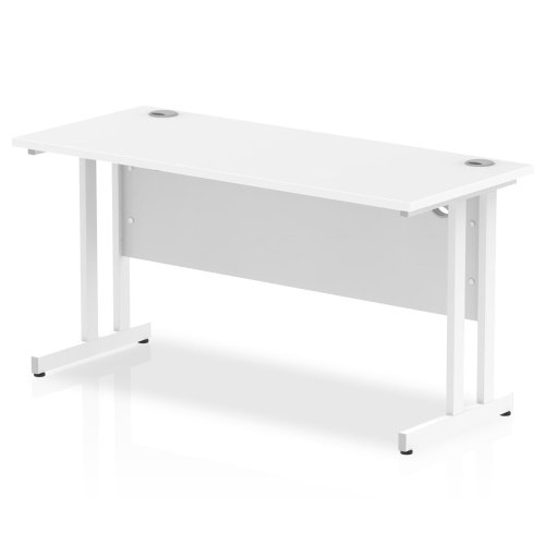 Gentoo Rectangular Desk with Twin Cantilever Legs - (w) 1400mm x (d) 600mm