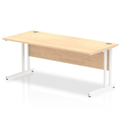 Gentoo Rectangular Desk with Twin Cantilever Legs - (w) 1800mm x (d) 800mm